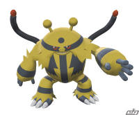 "Electivire evolves from an Electrode holding ""Electrizer"" after the trade in Pokemon Diamond Pearl DP"