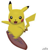 The Surfing Pikachu (Can be only found in Pokemon Battle Revolution Wii)